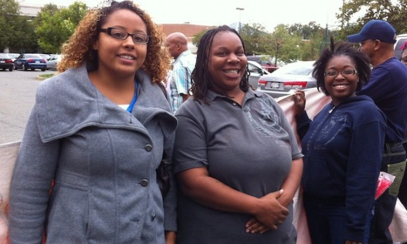 Bain Workers Simara Martinez, Shantees Jones, Libya Wilson
