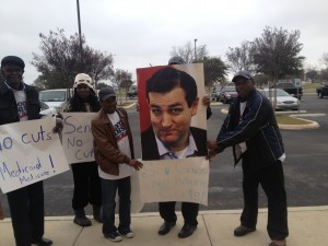 Activists call on Texas Sen. Cruz to stop sequester cuts